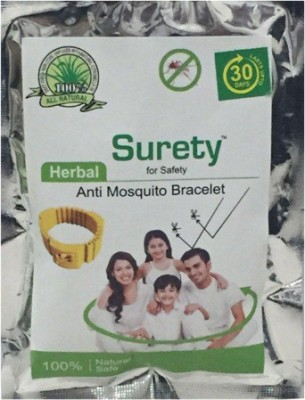 Surety for Safety Herbal Anti Mosquito Bracelet Yellow