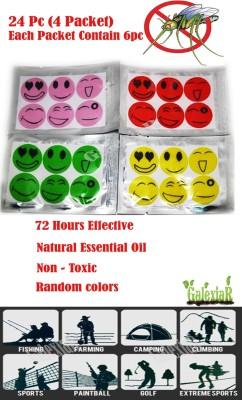 "SENECIOâ""¢ ,S 24Pcs Smile Mosquito Repellent Patch Sticker Natural Essential Oil mat"