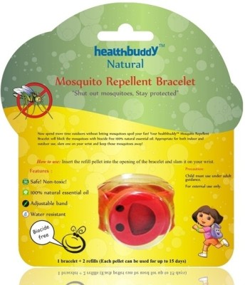 Healthbuddy Natural Mosquito Repellent Bracelet Red