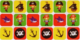 Being Safe 100% Natural High Quality Mosquito Repellent tattoos Pirates-18 Stickers(Pack of 18)