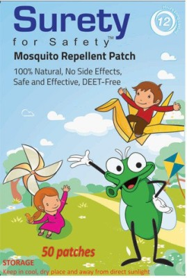 Surety For Safety Herbal Mosquito Repellent Patches 50