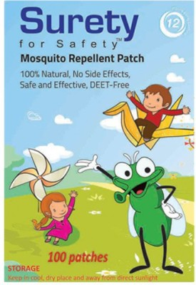 Surety For Safety Herbal Mosquito Repellent Patches 100
