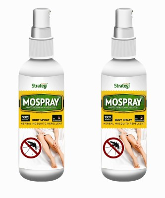 Herbal Strategi Mospray -Herbal Mosquito Repellent Body Spray(Pack of 2)
