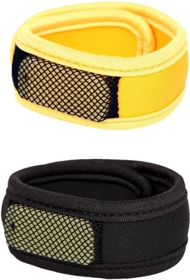 Safe-O-Kid High Quality, Reusable Fabric Mosquito Repellant Band - 2 Bands+4 Refills+2 Air Tight Pouch(Pack of 2)