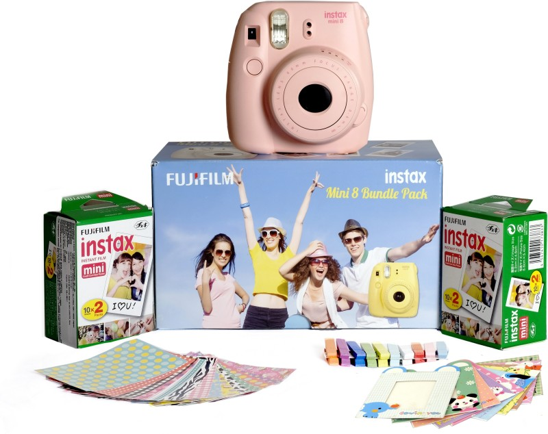 Fujifilm Instax Mini 8 - Bundle Pack Instant Camera(Pink)