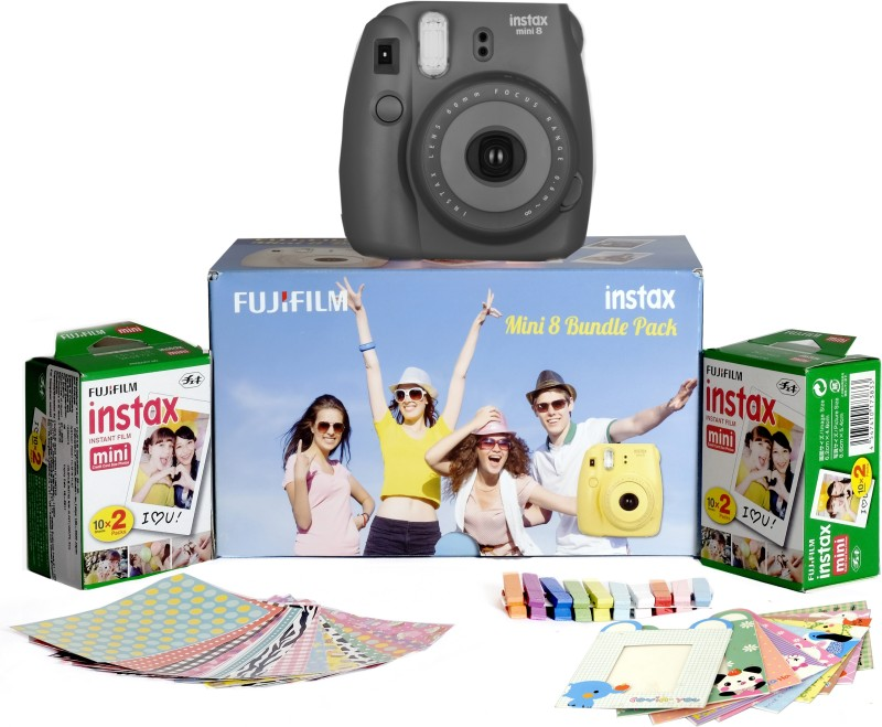 Fujifilm Instax Mini 8 - Bundle Pack Instant Camera(Black)