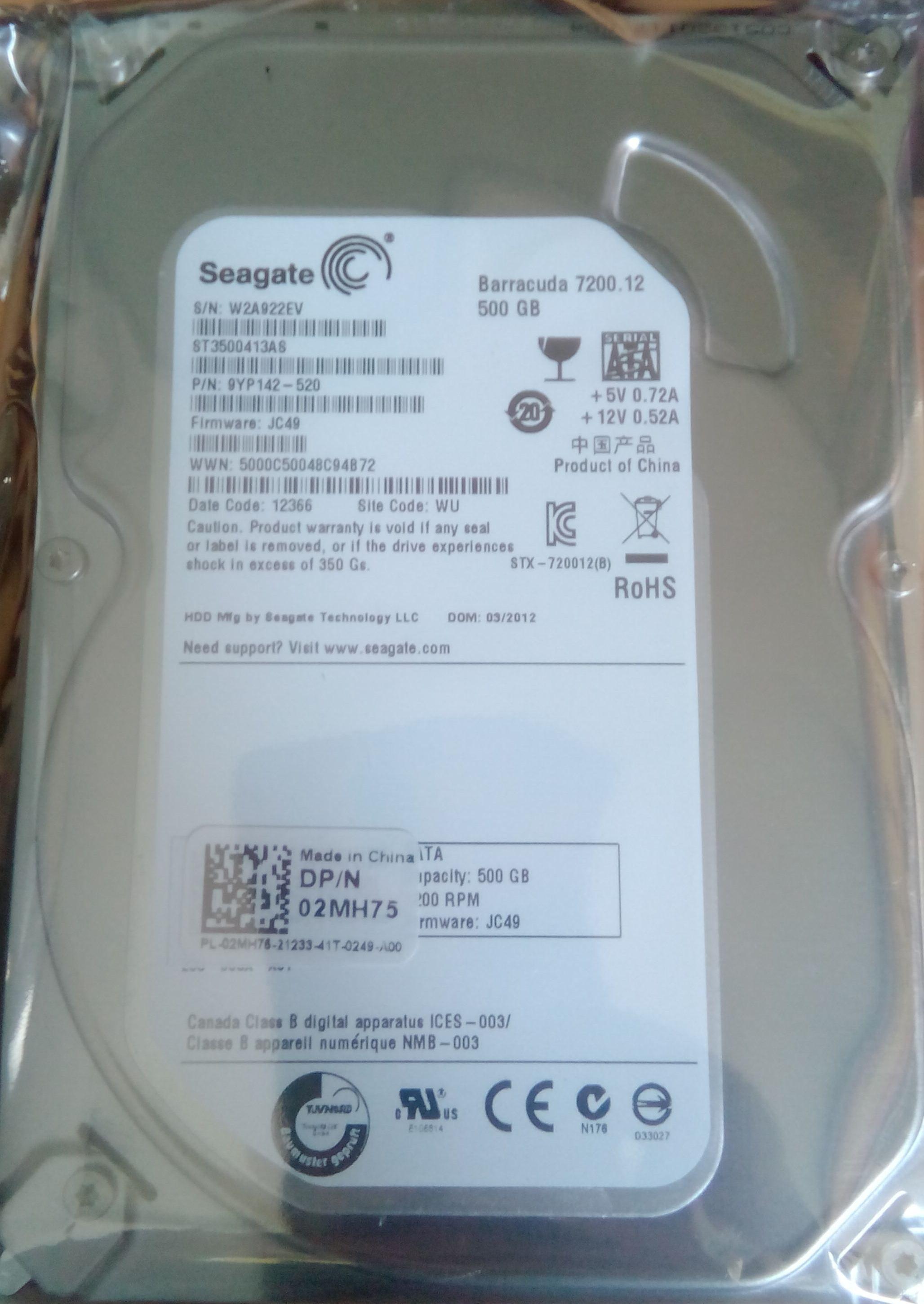 Seagate barracuda 500 GB Desktop Internal Hard Disk Drive (ST3500413AS)