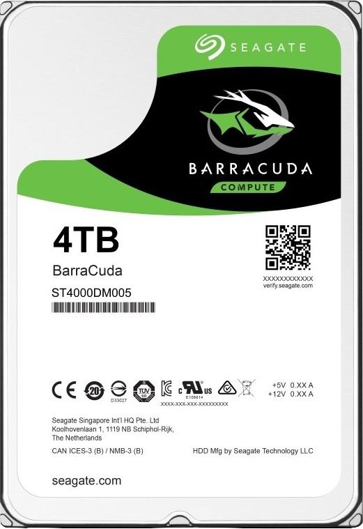 Seagate BarraCuda 4 TB Desktop, Surveillance Systems, All in One PCs, Servers Internal Hard Disk Drive (ST4000DM005)