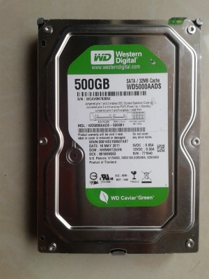 WD WD CAVIAR GREEN 500 GB DESKTOP Internal Hard Drive (WD5000AADS)