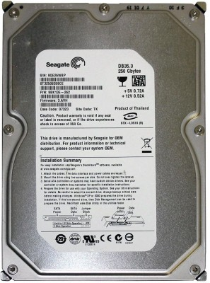 Seagate Barracuda (ST3250820SCE) 250GB PC Internal Hard Drive