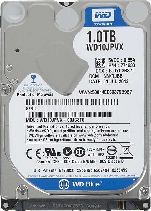 WD WD10JPVT/WD10JPVX 1 TB Laptop Internal Hard Disk Drive (WD10JPVx)   Computer Storage  (WD)