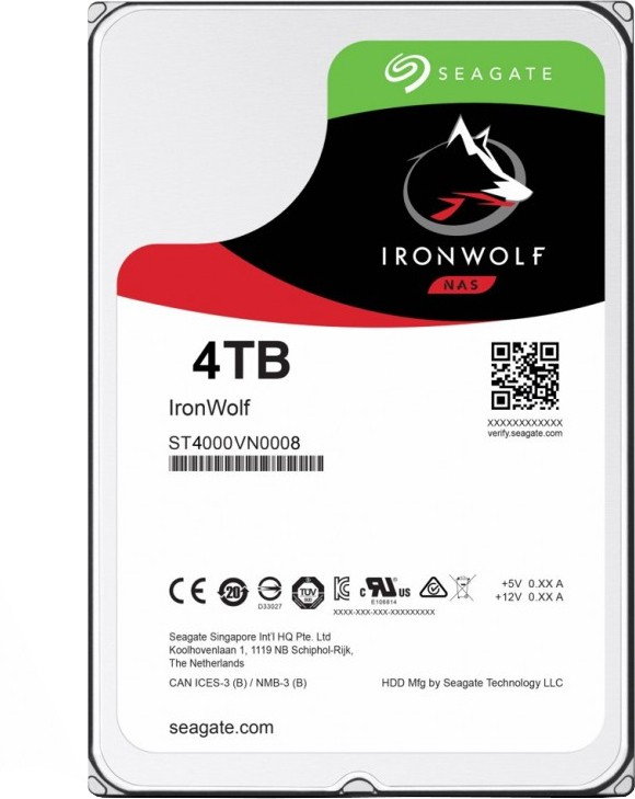 Seagate IronWolf 4 TB Servers, Network Attached Storage Internal Hard Disk Drive (ST4000VN008)