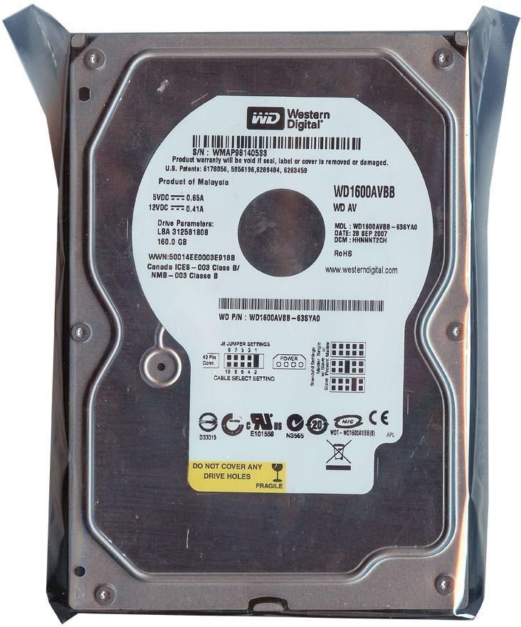 WD Ide 160 GB Desktop Internal Hard Disk Drive (WD Cavier Normal)   Computer Storage  (WD)