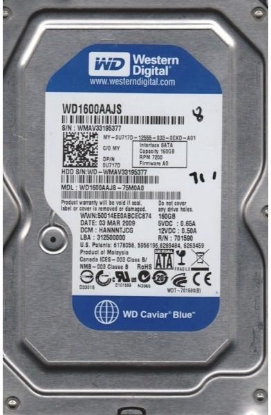 View WD Caviar 160 GB Desktop Internal Hard Drive (WD1600AAJS)  Price Online