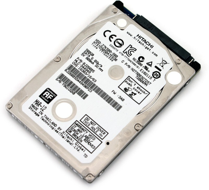 Hitachi Travelstar 500 GB Laptop Internal Hard Disk Drive (Z7K500 500GB 7200 rpm)