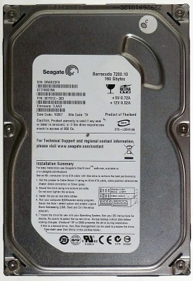 Seagate Barracuda IDE (ST3160215A) 160GB Desktop Internal Hard Disk
