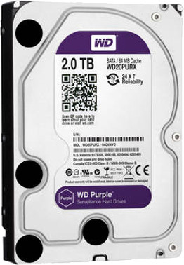 View WD 2 TB Desktop Internal Hard Disk Drive (WD20PURX) Price Online(WD)