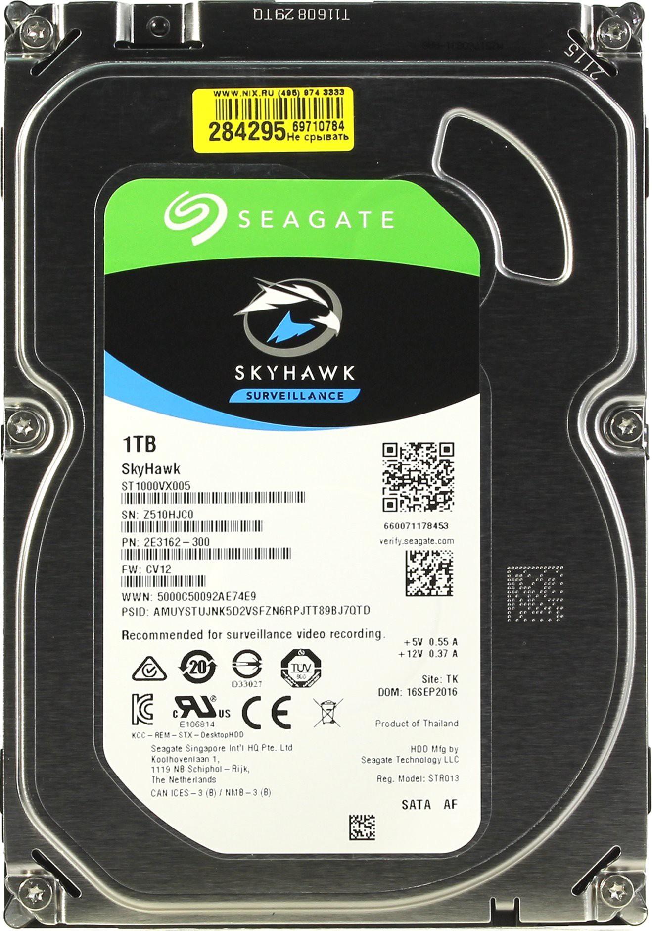 View Seagate Sky Hawk 1 TB Surveillance Systems, Desktop Internal Hard Disk Drive (ST1000VX005) Price Online(Seagate)
