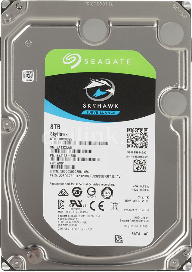 View Seagate SkyHawk 8 TB Network Video Recorders (NVR), Embedded Surveillance DVRs (SDVR), Hybrid Surveillance DVRs, Surveillance DVRs Internal Hard Drive (ST8000VX0022) Price Online(Seagate)