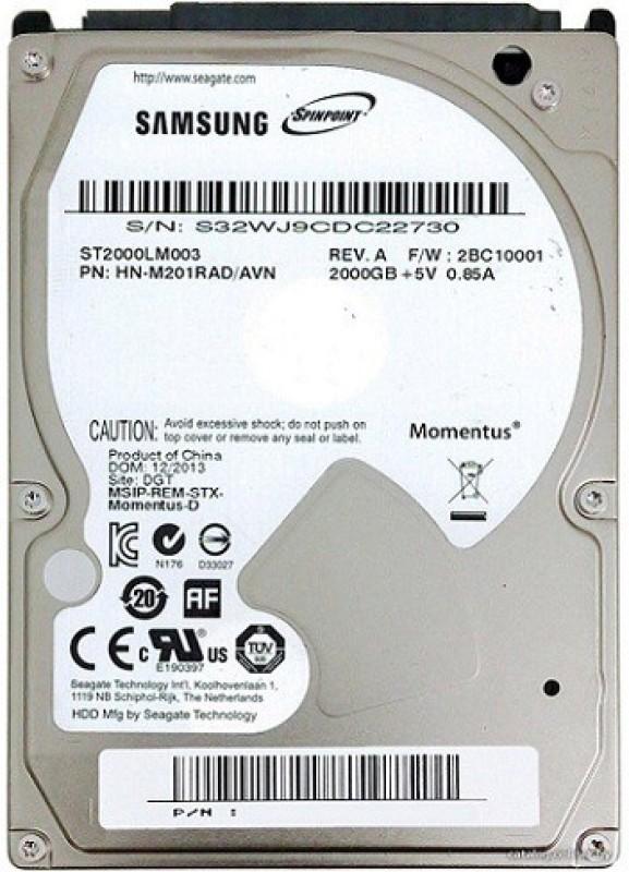 SAMSUNG Spin Point 2 TB Laptop Internal Hard Drive (ST2000LM003)