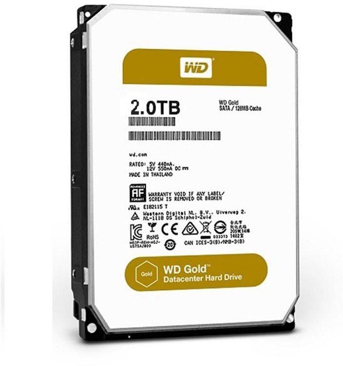 View WD Gold 2 TB Desktop Internal Hard Disk Drive (WD2005FBYZ) Price Online(WD)