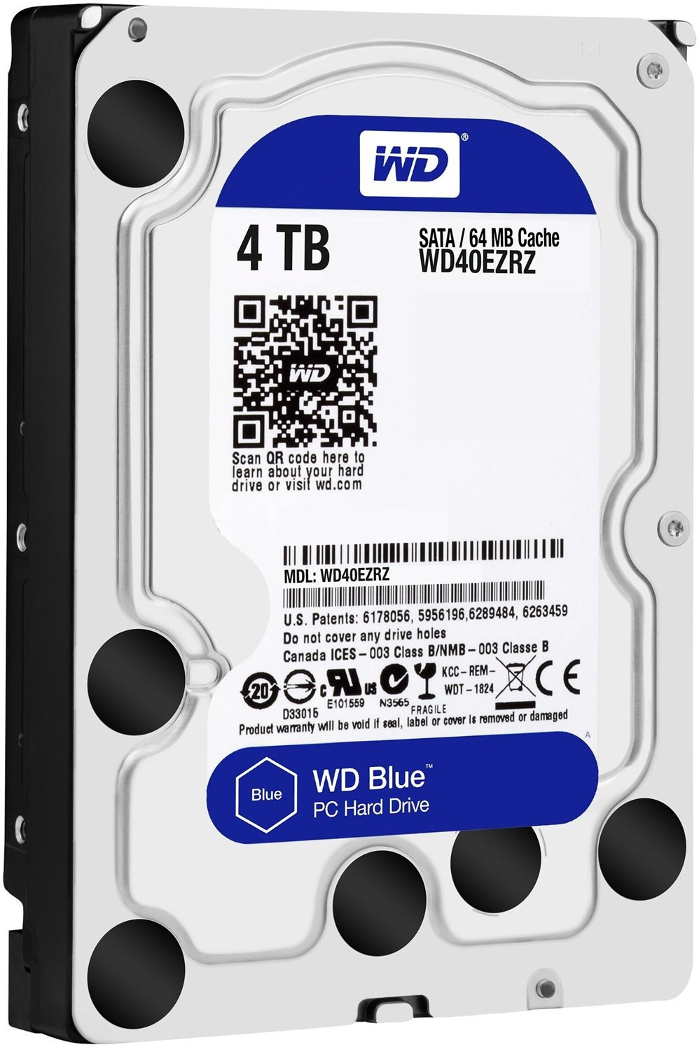 WD Blue 4 TB Desktop Internal Hard Disk Drive (WD40EZRZ)   Computer Storage  (WD)