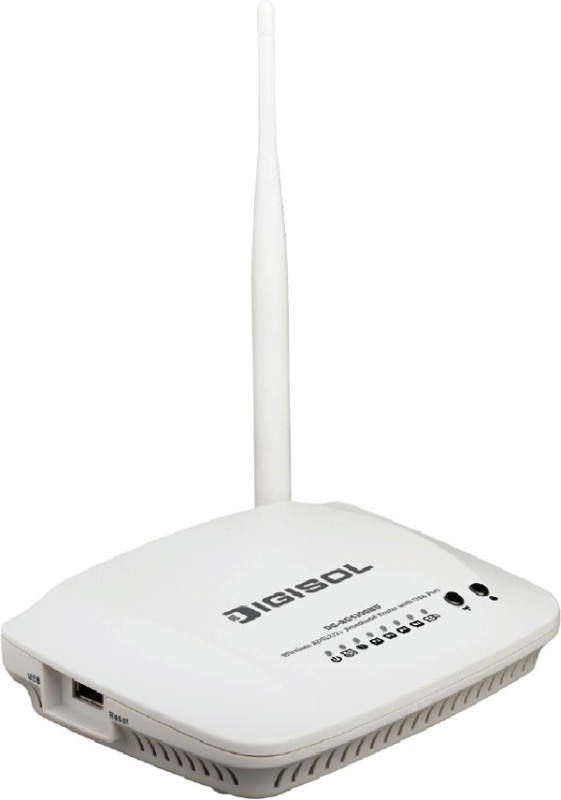 Digisol 150MBPS ADSL2/2+Broardband Router with USB Port DG-BG4100NU Wireless Broadband Router Internal Modem(150 kbps)