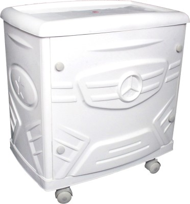 Supertech White Tubular Trolley for Inverter and Battery(White)