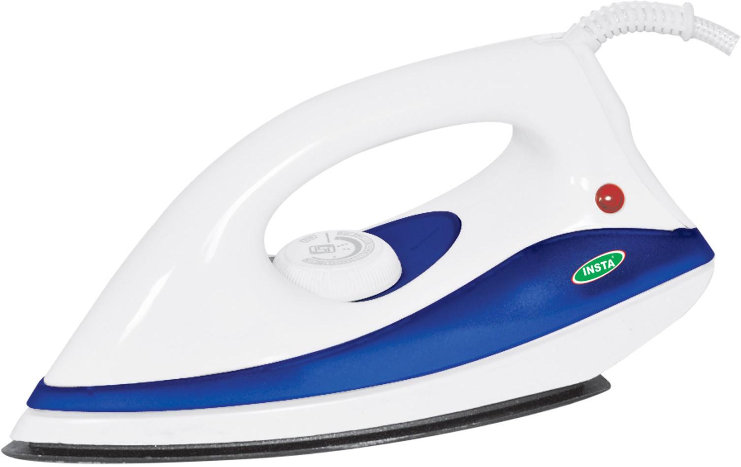 View Insta Maxx Dry Iron(WhiteIndigo) Home Appliances Price Online(Insta)