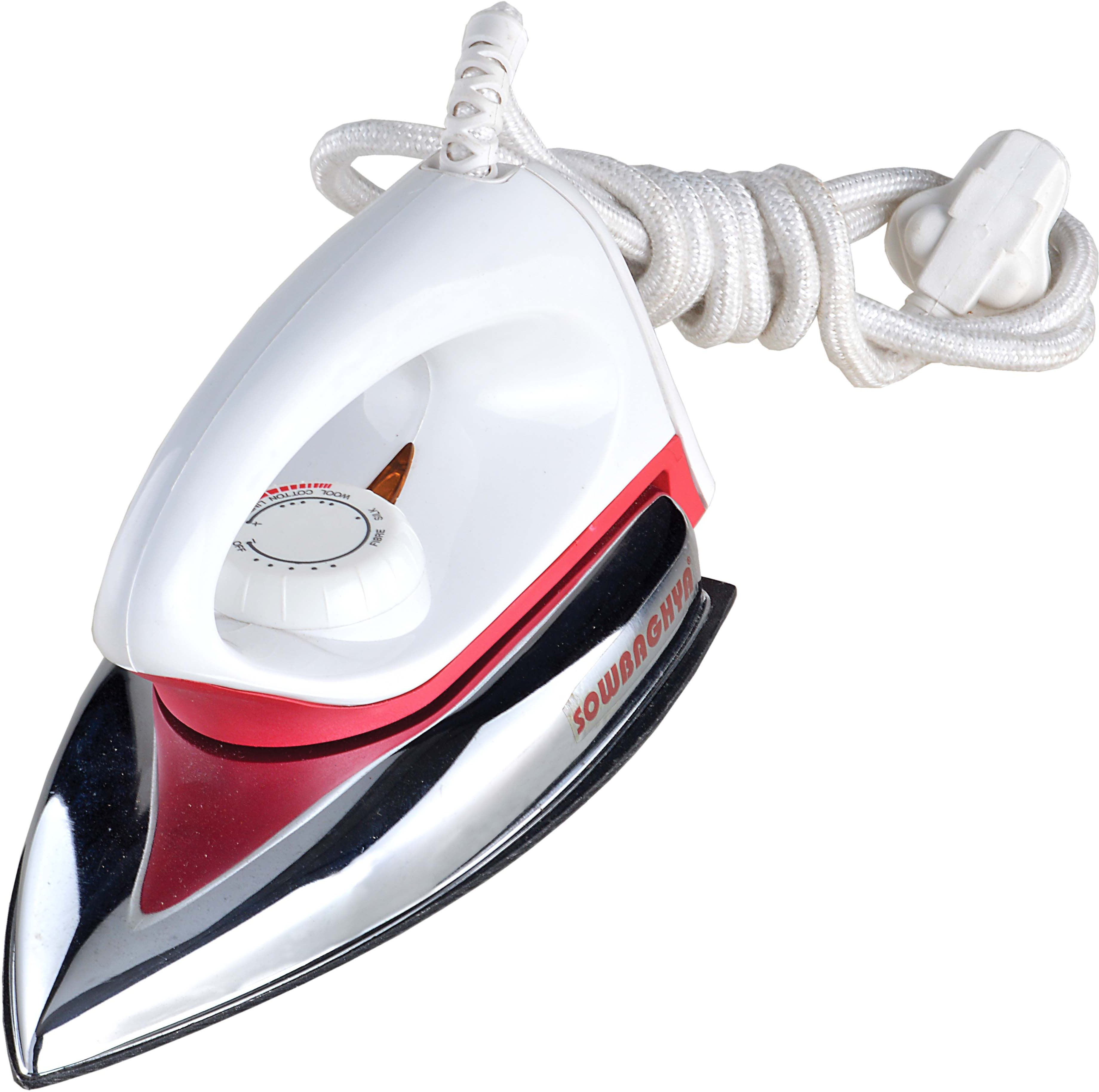 View sowbaghya DI01 Dry Iron(white,silver) Home Appliances Price Online(sowbaghya)
