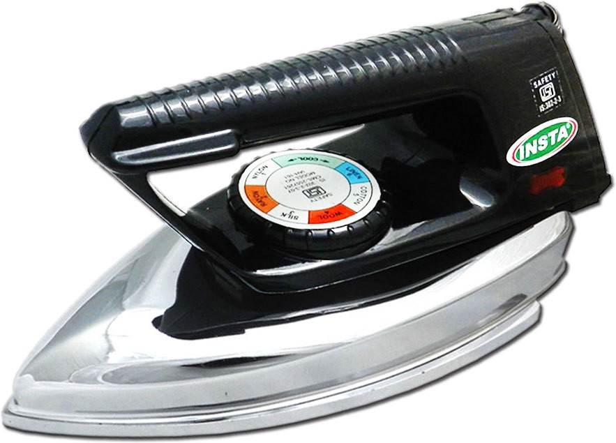 View Insta Supreme Heavy Weight ISI Dry Iron(Silver Black) Home Appliances Price Online(Insta)