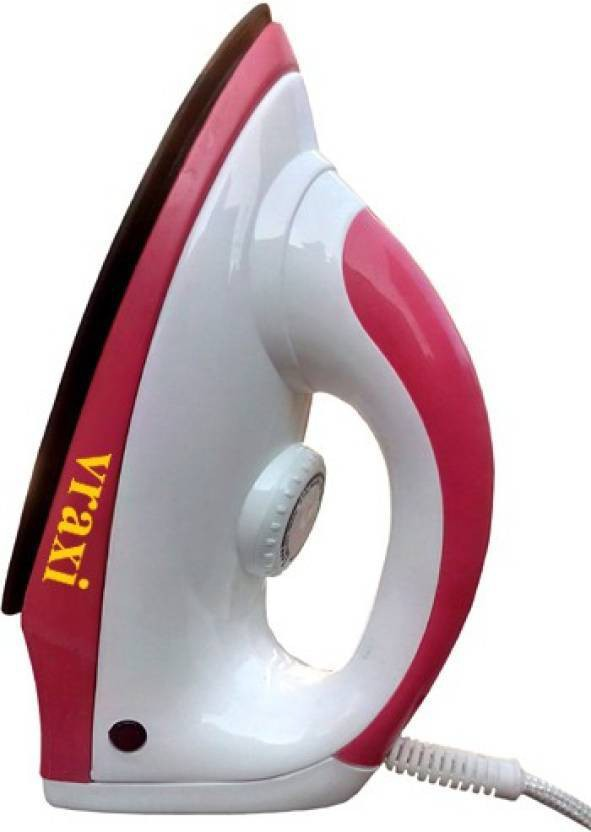 View Vraxi Fortified Dry Iron(Red) Home Appliances Price Online(Vraxi)