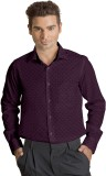 Willmohr Men's Printed Casual Purple Shi...