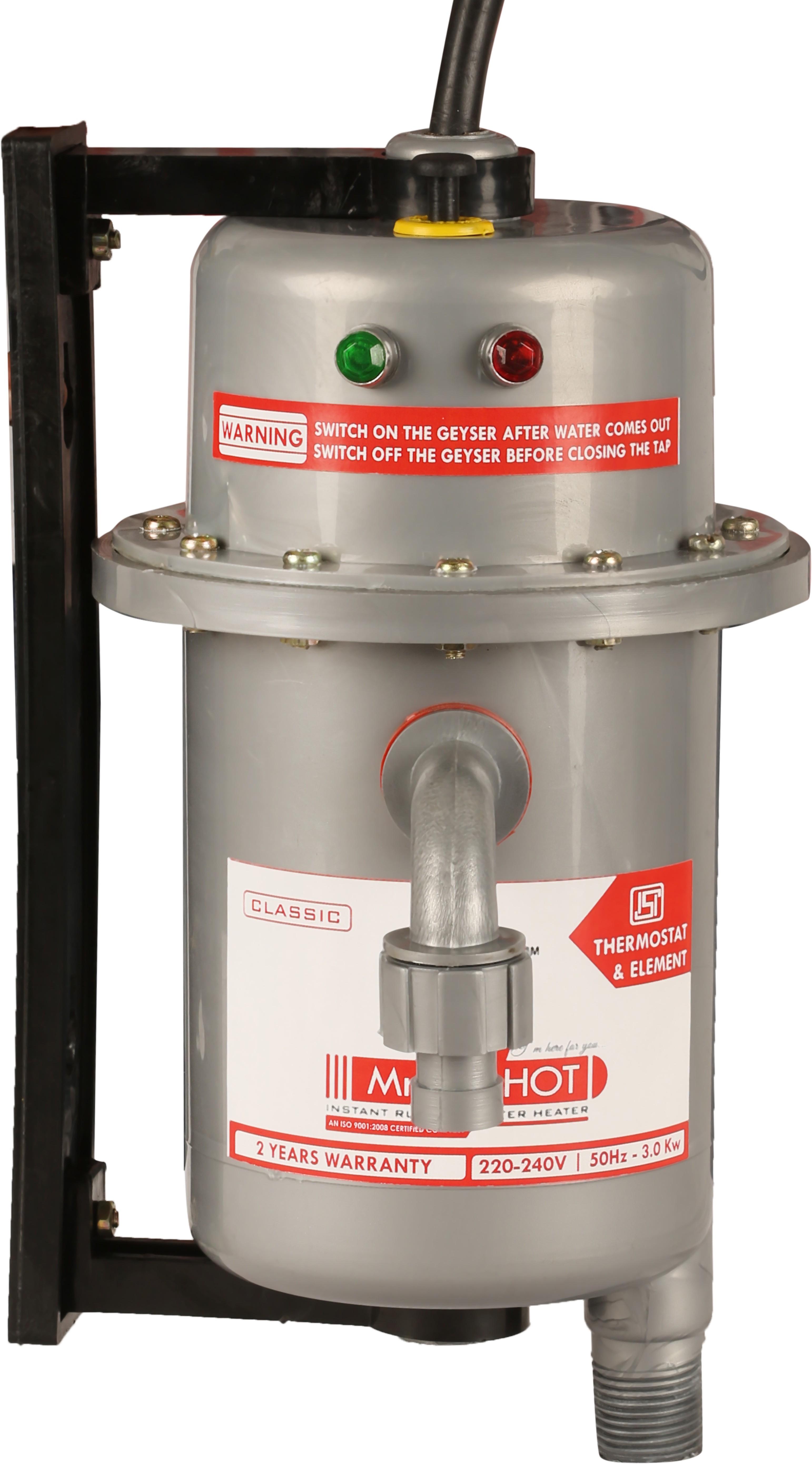 View Mr.Shot 1 L Instant Water Geyser(Metallic Grey, Classic) Home Appliances Price Online(Mr.Shot)
