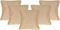 Lal Haveli Plain Cushions Cover(Pack of 5, 41 cm*41 cm, Beige)