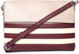 Parfois Shoulder Bag (Maroon, Beige)