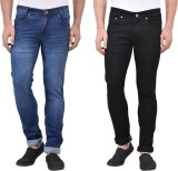 Denzor Slim Men's Blue, Black Jeans (Pac...
