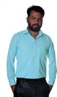 Green Leaves Formal Shirts (Men's) - Green Leaves Men's Checkered Formal Green Shirt