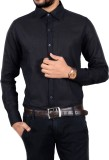 Chaman Handicrafts Men's Solid Casual Bl...