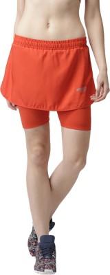 2Go Solid Womens Straight Orange Skirt