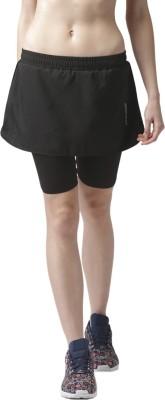 2Go Solid Womens Straight Black Skirt
