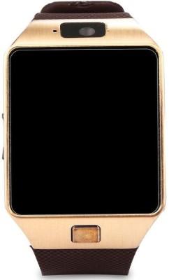 Wonder World ® DZ-09 Mobile GSM-SIM Card Sport Camera HD Gold Smartwatch(Gold Strap Regular) at flipkart