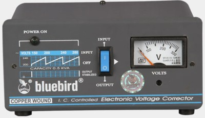 Blue Bird 1KVA 130-280V Economy Voltage Stabilizer(Multicolour)