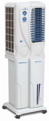 View Kelvinator KTC 40 Tower Air Cooler(White, Blue, 31 Litres)  Price Online