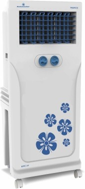 View Kelvinator KTC 12 Tower Air Cooler(White, Blue, 10 Litres)  Price Online