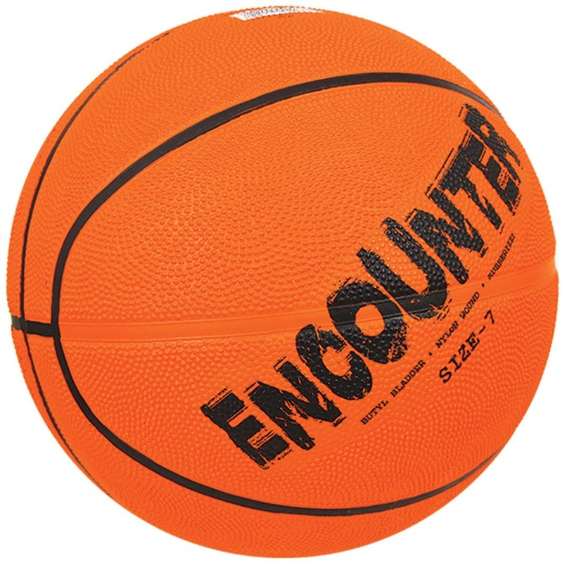 Nivia Encounter Basketball -   Size: 7,  Diameter: 24.5 cm(Pack of 1, Orange)