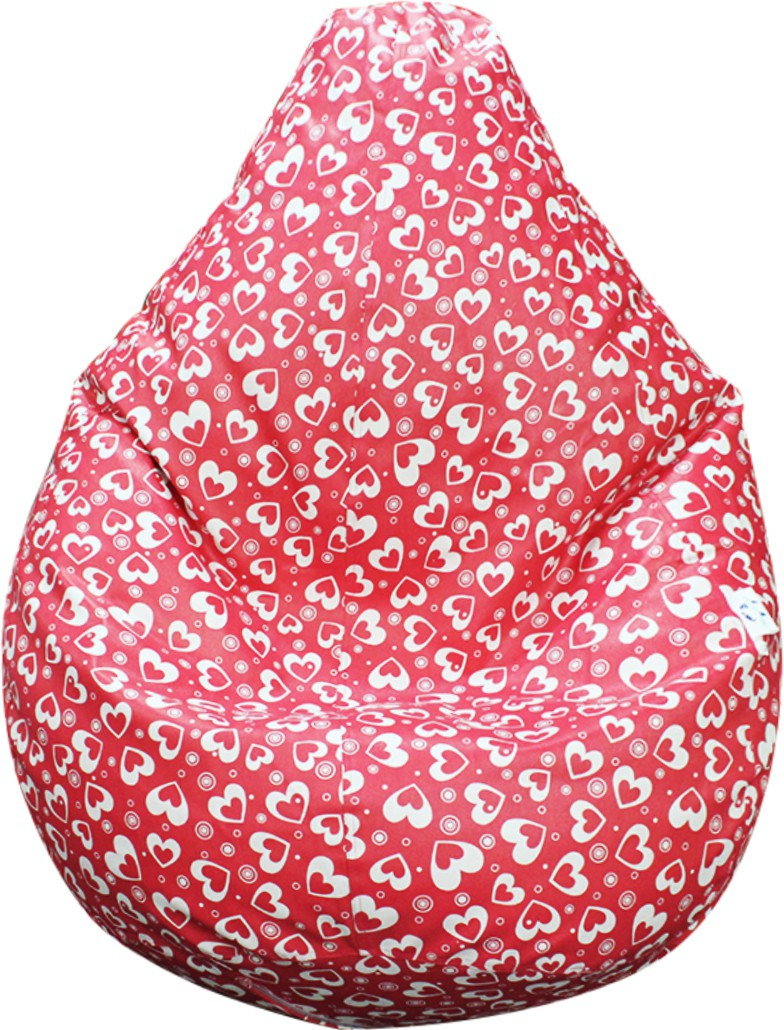 View Mofaro XL Little Heart Bean Bag  With Bean Filling(Pink, White) Furniture (Mofaro)