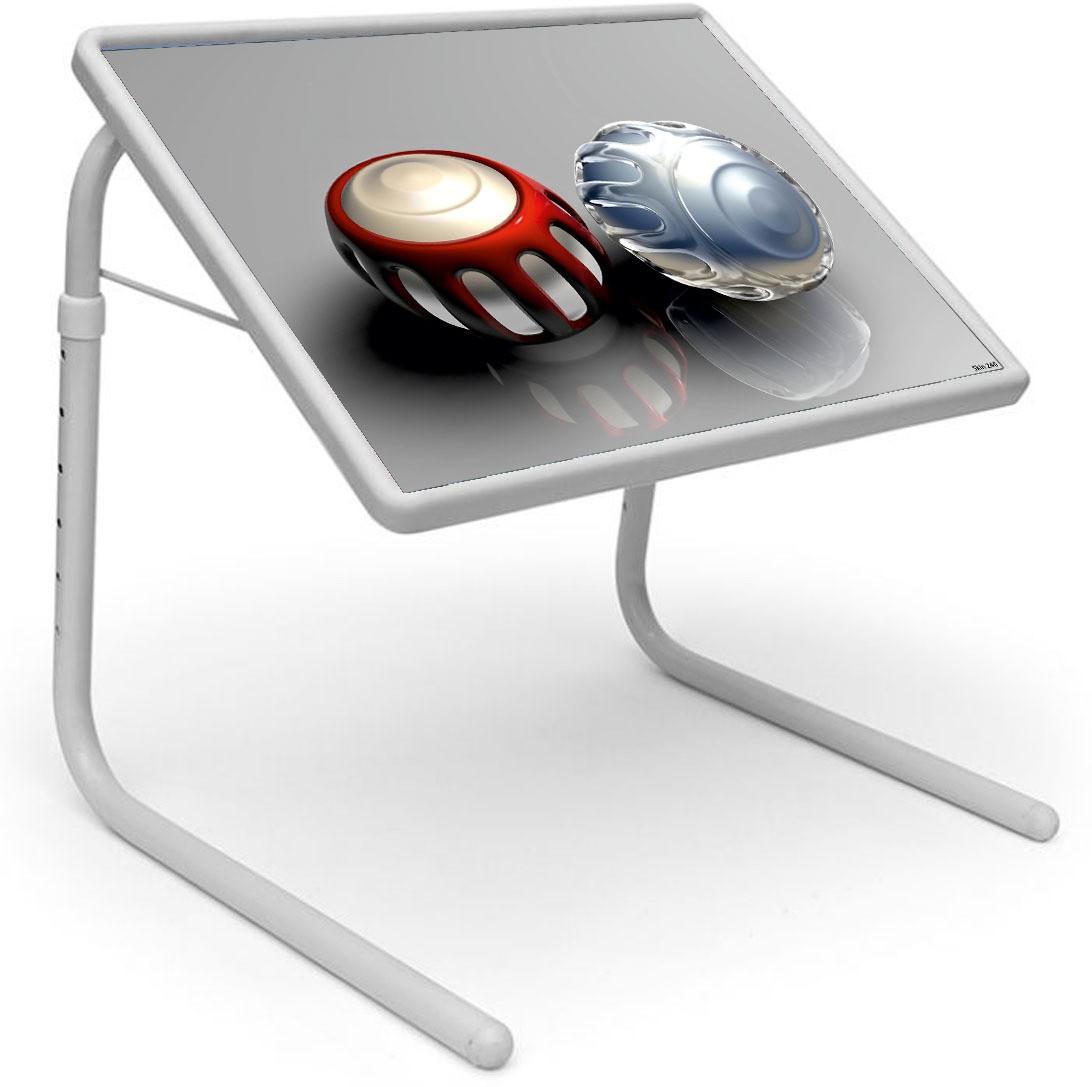 View Shopper 52 Plastic Portable Laptop Table(Finish Color - Grey) Furniture (Shopper52)