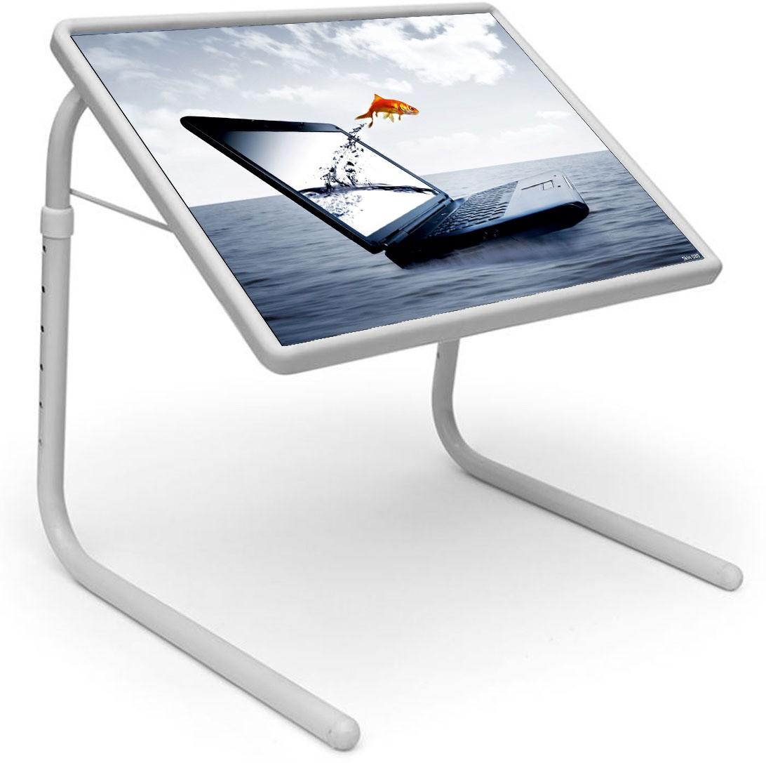 View Shopper 52 Plastic Portable Laptop Table(Finish Color - White) Furniture (Shopper52)