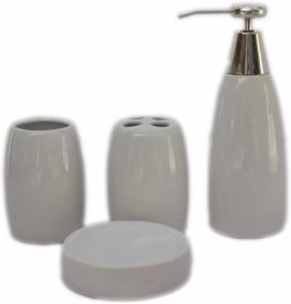 EON Ceramic Bathroom Set(Pack of 4)